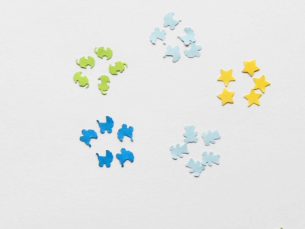 500 miniature in carta: decorazioni 'nascita bambino'
