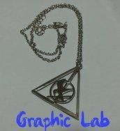 Collana con simbolo dei doni della morte e ghiandaia imitatrice