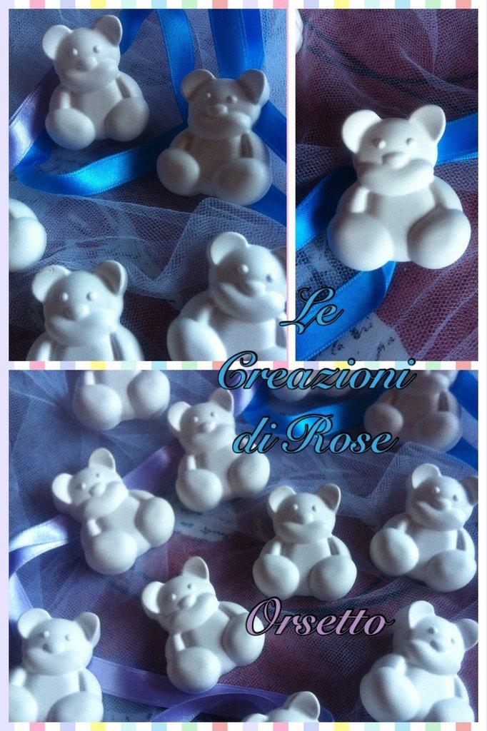 Gessi profumati orsetto gessetti battesimo
