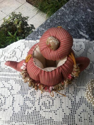 Teiera in stoffa per la casa e per te produzioni - Porta dischetti struccanti ...