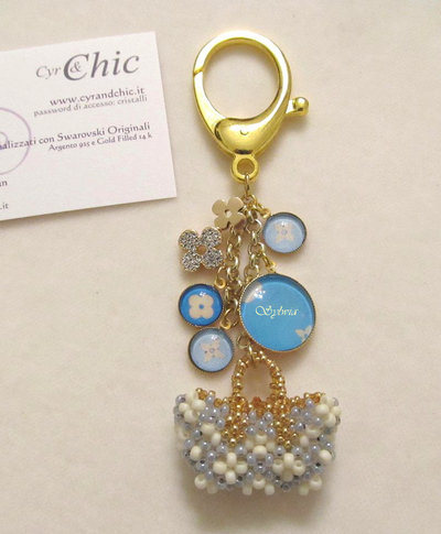 Luxury Inspired Charm/Ciondolo con mini-bag PERSONALIZZABILE