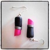 orecchini rossetto handmade