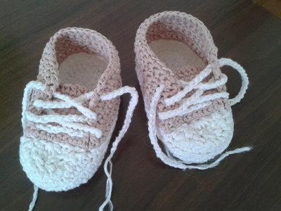 Scarpine bimba di cotone uncinetto