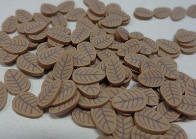 128 Fettine Foglia Marrone da Polymer Clay Canes