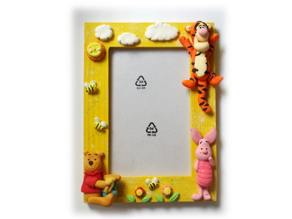 Cornice portafoto Winnie Pooh, Pimpi, Tigro