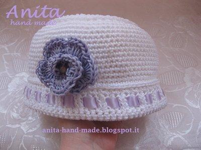 Cappellino bimba in 100% cotone