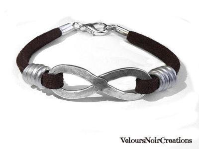 bracciale simbolo infinito filo martellato