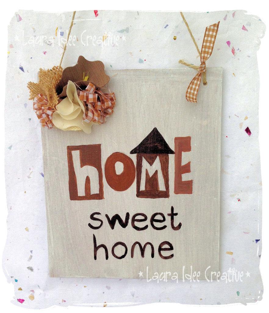 Targa in legno HOME SWEET HOME