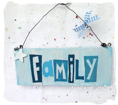 Cartello in legno FAMILY