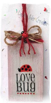 LOVE BUG - mini pannello legno