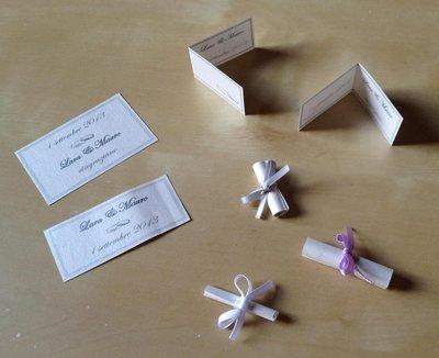Bigliettini per confetti in vari formati