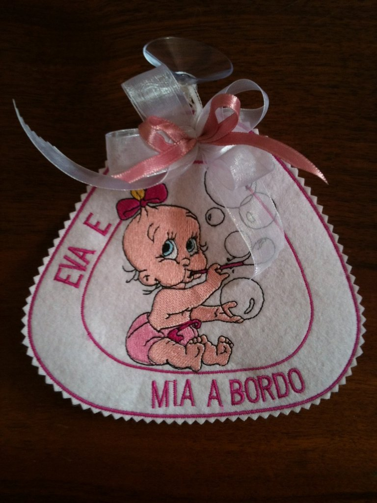 Etichetta - Bimba a Bordo - con Bolle