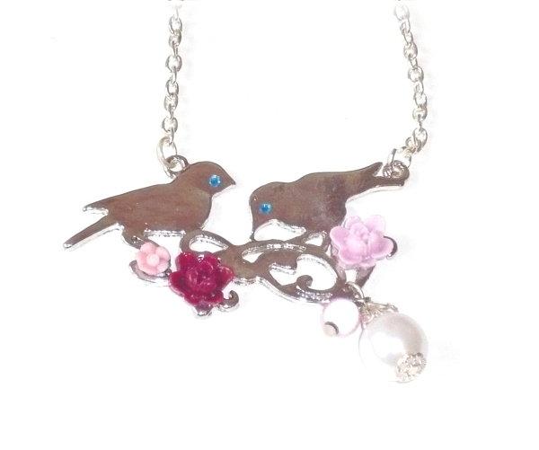 """Collier """"oiseaux sur la branche"""""""