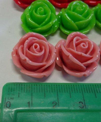 28 Cabochon di Resina Rosa Grande