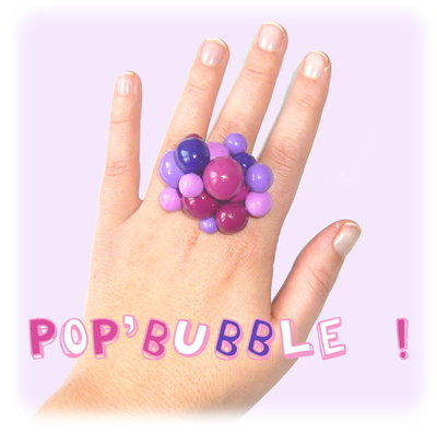Bague bulles violettes