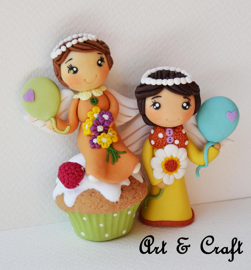 bomboniera comunione coppia di angioletti