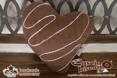 Cuscino Biscotto - Amore Puro con glassa bianca (Quello originale)