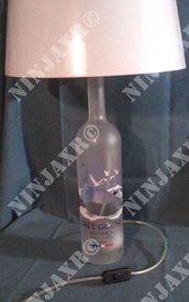 Lampada da tavolo Bottiglia Vodka Grey Goose Magnum 1,5 L