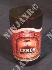 3 Bicchieri birra Ceres ottenuti da bottiglie