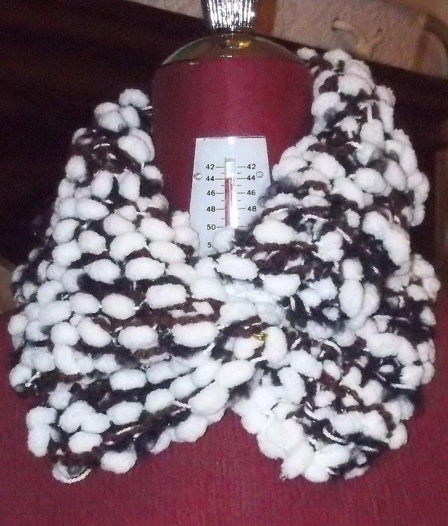 Scaldacollo in lana cinigliata