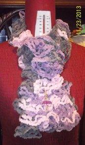 Sciarpa in lana cinigliata
