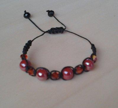 braccialetto con perle e swarosky