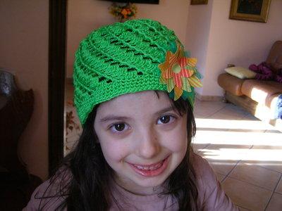 Cappello uncinetto in cotone