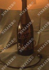 Lampada da tavolo bottiglia vino Umberto Cesari 3 L Pineta Club discoteca