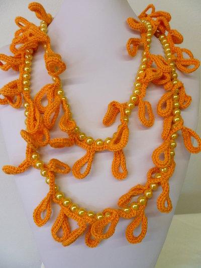 filo perle arancio