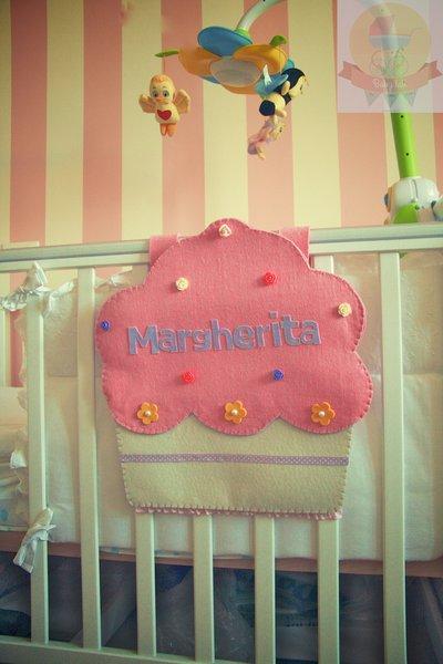 """Porta Pigiama """"Cupcake"""" in feltro"""