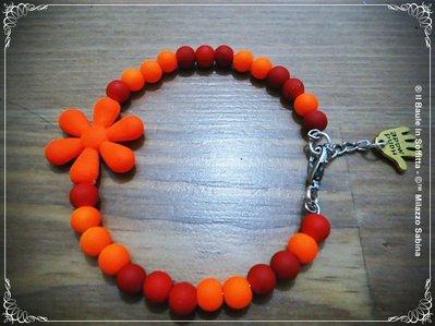 Bracciale in Filo armonico, perline e fiori in silicone - Linea Under 16