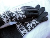 Extra-Long-Armwarmers-Five-Finger-Gloves-White-Grey-Charcoal