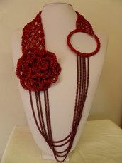 collana vintage rossa
