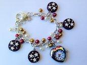 Bracciale con orologio e Pan di stelle