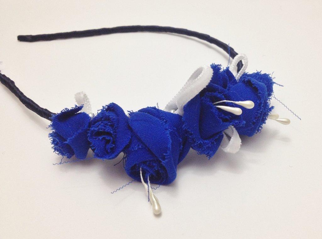 BLUE ROSE //cerchietto