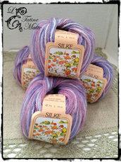 Lana variegato rosa - Silke