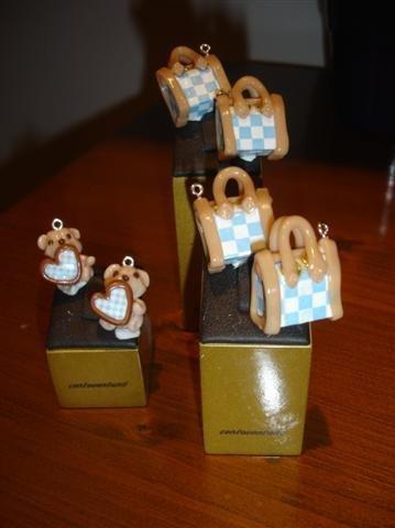 CIONDOLO FASHION BAG a quadretti charms per bracciale orecchini collane portachiavi