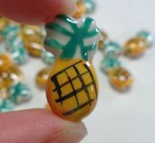 6 Perline Ananas Porcellana
