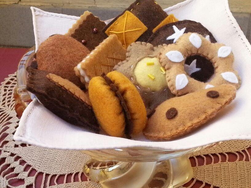 biscotti in feltro