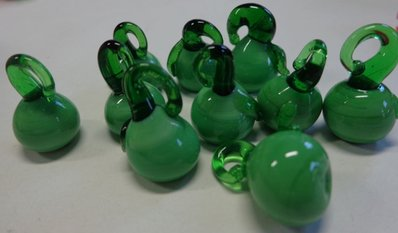 10 Perline MELE VERDI in Vetro