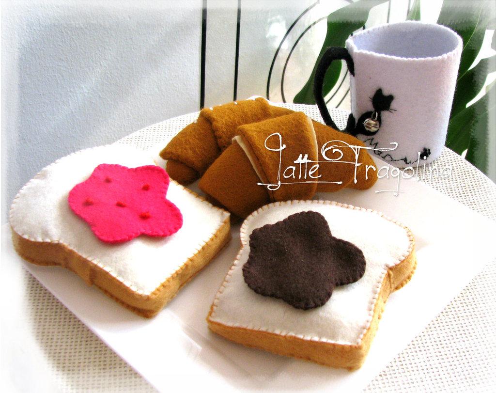 Feltro / Pannolenci giocattolo per bambini - colazione