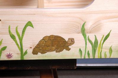 Terrario in legno per tartarughe terrestri per la casa e for Oggetti per tartarughe