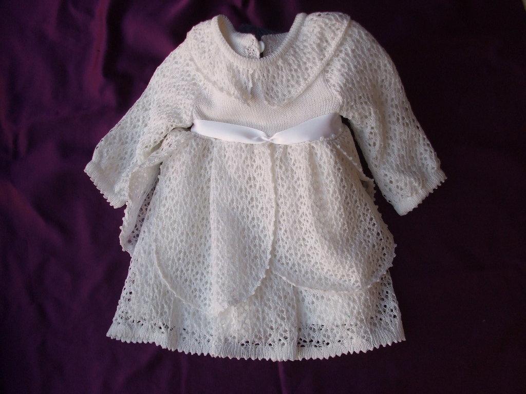 vestito bianco traforato bimba