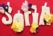 Sofia: nome in lettere di cotone imbottite
