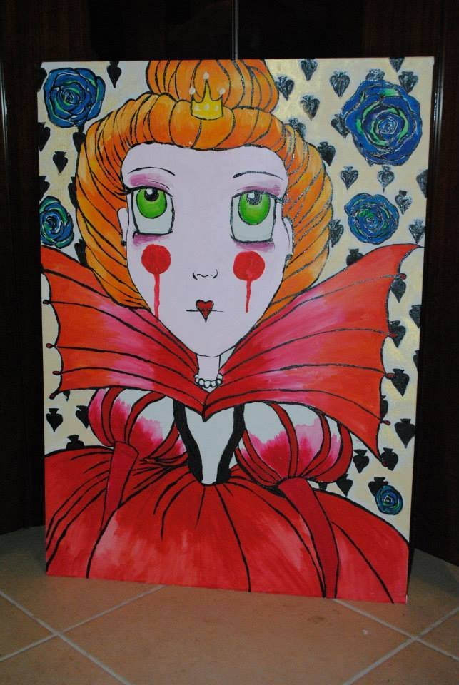 Regina di cuori Alice nel paese delle meraviglie quadro
