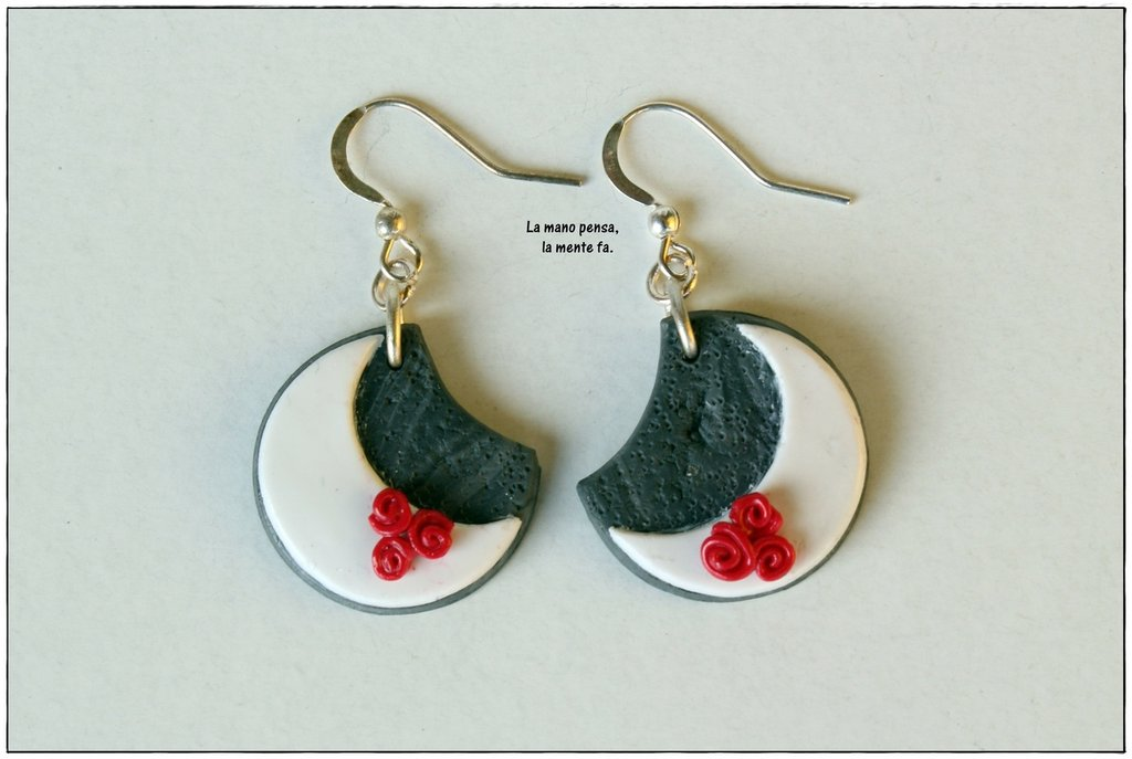 Orecchini luna - Ispirazione Siciliana