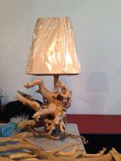 lampada legno mare spago