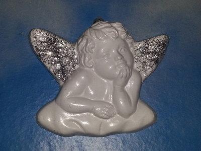 ANGELO con ali glitter argentati