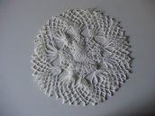 CENTRINO in puro cotone, fatto a mano all'uncinetto