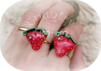 "Anello ""strawberry""   ""SALDI"""